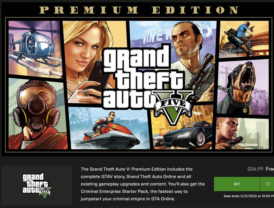 Tải ngay GTA V miễn phí từ Epic Games