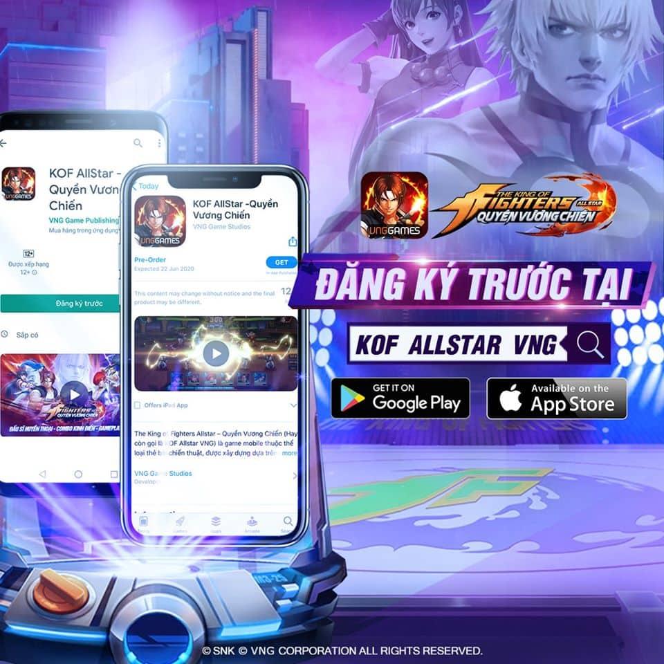 KOF AllStar VNG – Quyền Vương Chiến đã cho người chơi đăng ký trước