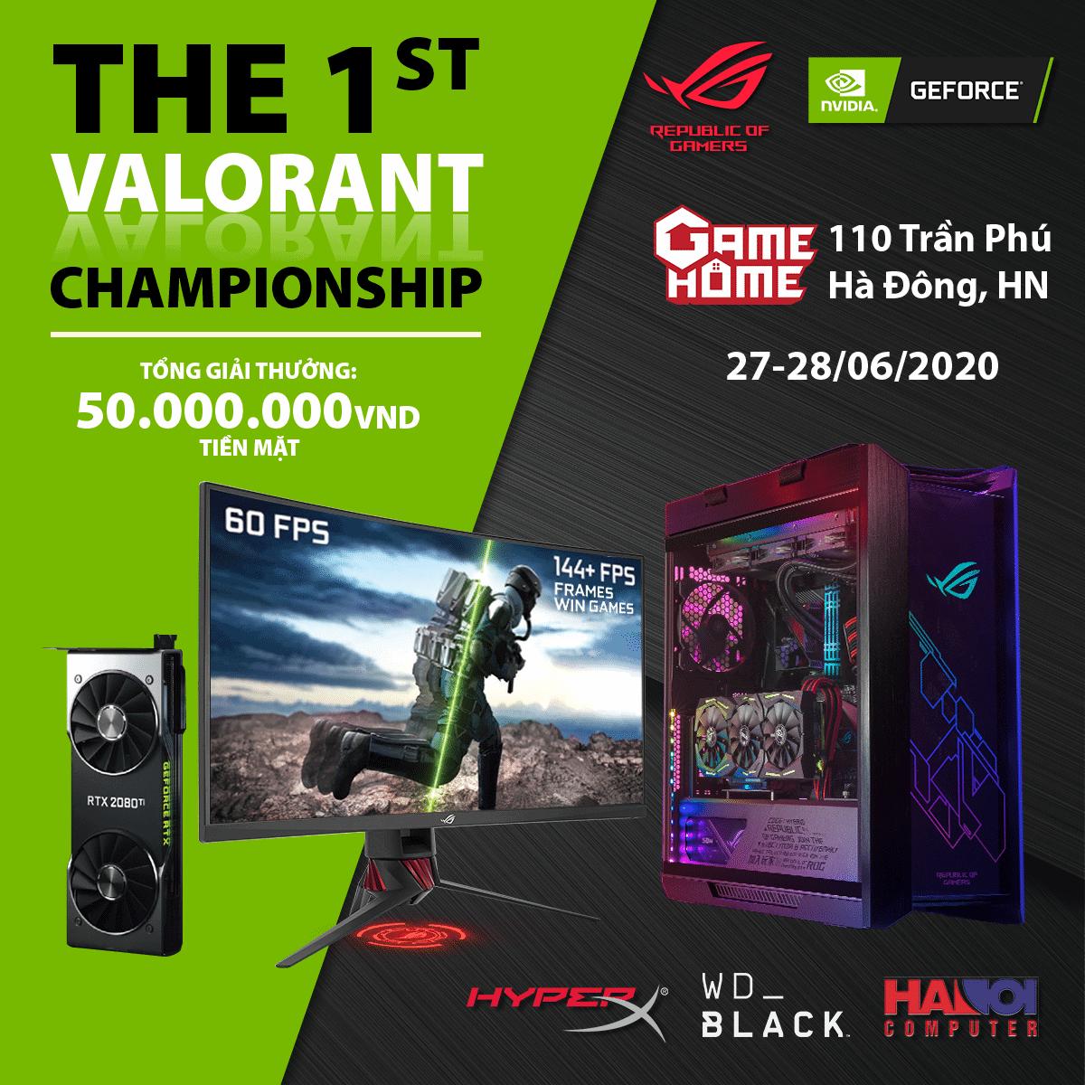 ROG và NVIDIA công bố giải đấu Valorant offline  đầu tiên trên thế giới