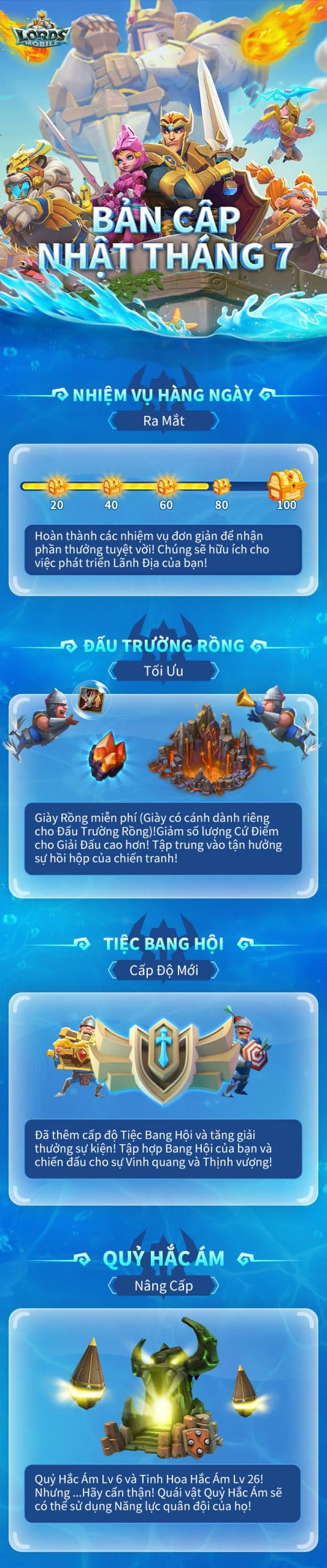 Lords Mobile Update tháng 7 2020