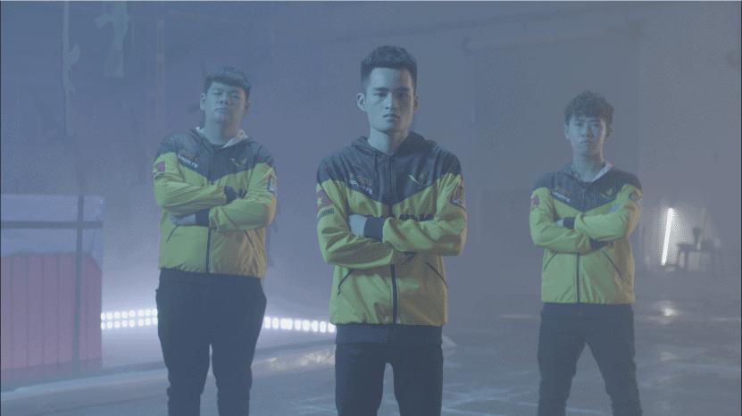 """V Gaming PUBG cùng Da Fame và Quinz vác súng """"ngầu bá cháy"""" trong MV của POPS eSports"""