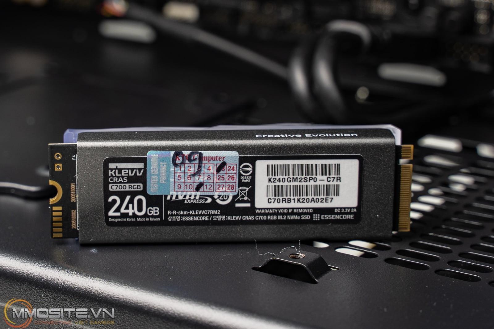 Đánh giá SSD KLEVV CRAS C700 dung lượng 240GB - Khi SSD cũng lập lòe ánh đèn