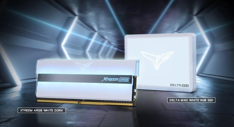 TEAMGROUP ra mắt SSD DELTA MAX RGB và RAM XTREEM ARGB full màu trắng
