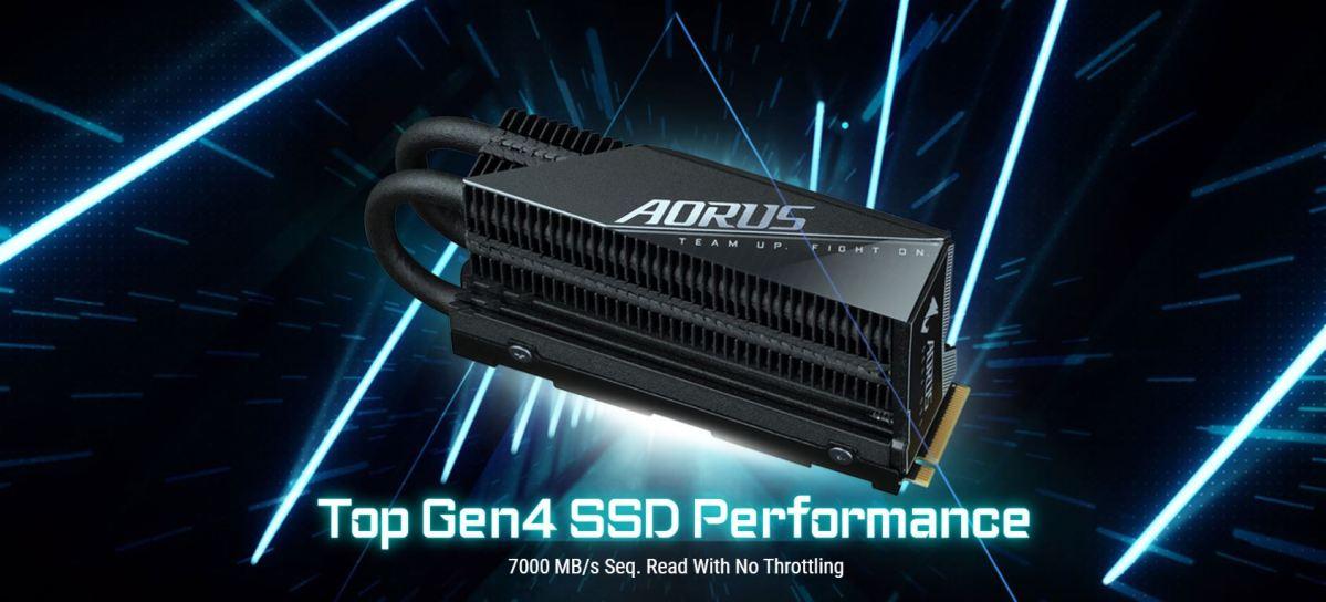 AORUS Gen4 7000s Prem. SSD 2TB là mẫu SSD hàng khủng của GIGABYTE có tốc độ lên đến 7000MB/s nhờ việc sử dụng giao thức PCI-Express 4.0