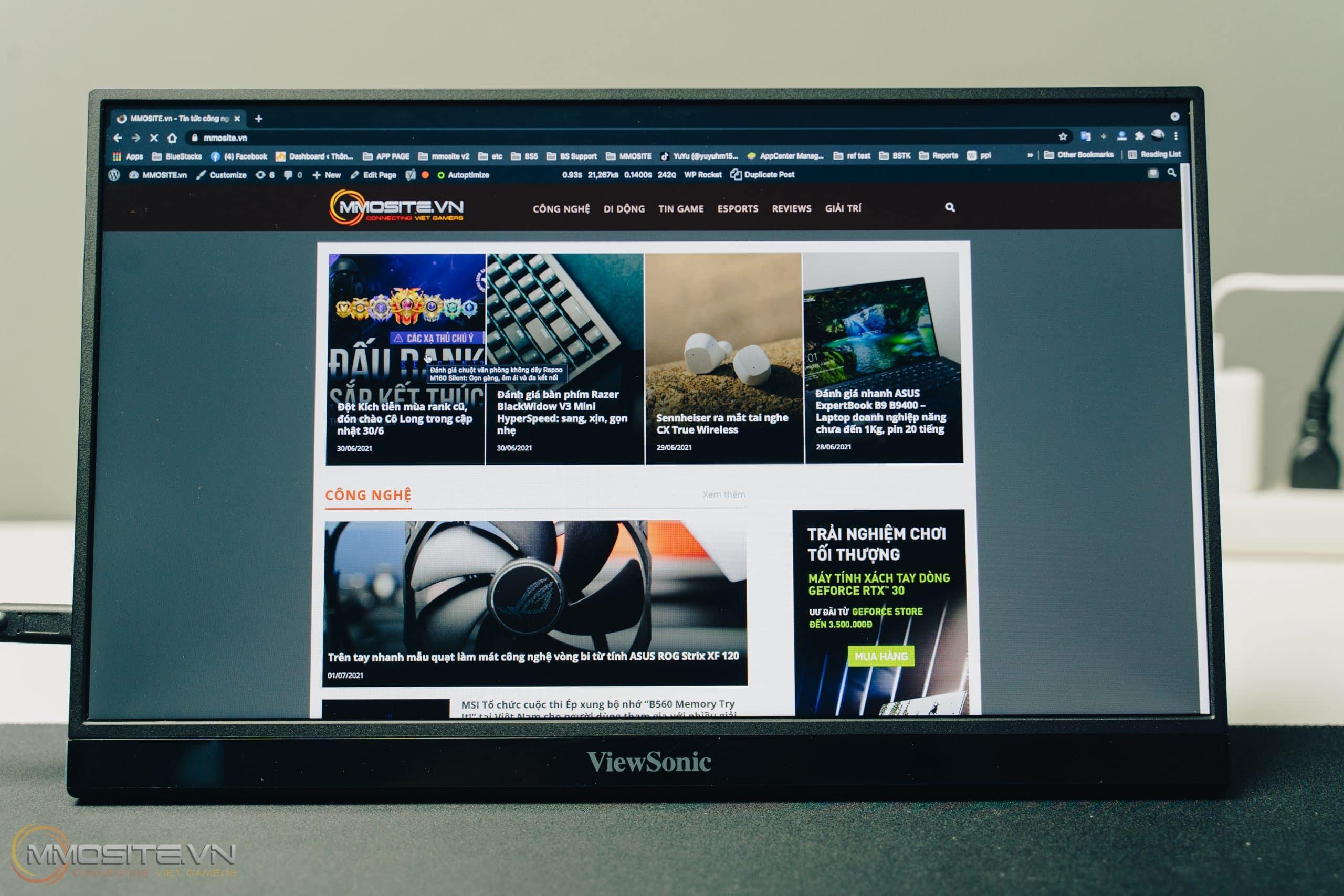 Màn hình VG1655 của ViewSonic sẽ là trợ thủ đắc lực cho những ai đang dùng máy tính xách tay khi muốn mở rộng không gian làm việc của mình.